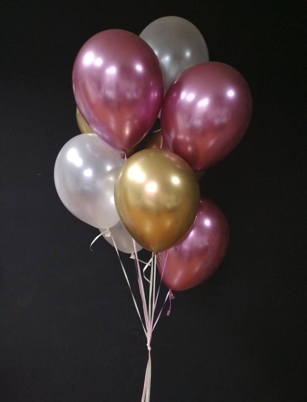 Букет з хромованих кульок
