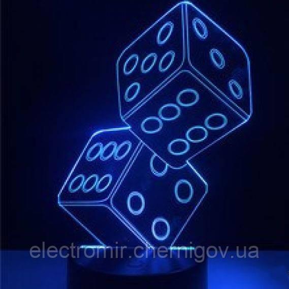 Оригинальный 3D светильник (Кости)