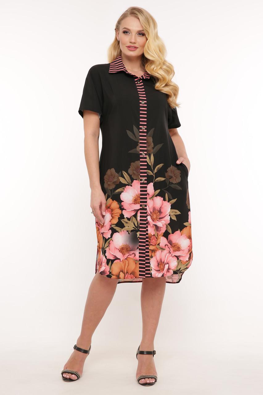 Легкое платье на лето для полных Сати