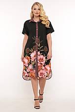 Легке плаття на літо для повних Саті, фото 3