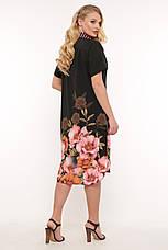 Легке плаття на літо для повних Саті, фото 2