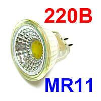 Лампа светодиодная MR11 5Вт 6500K 220В GU5.3