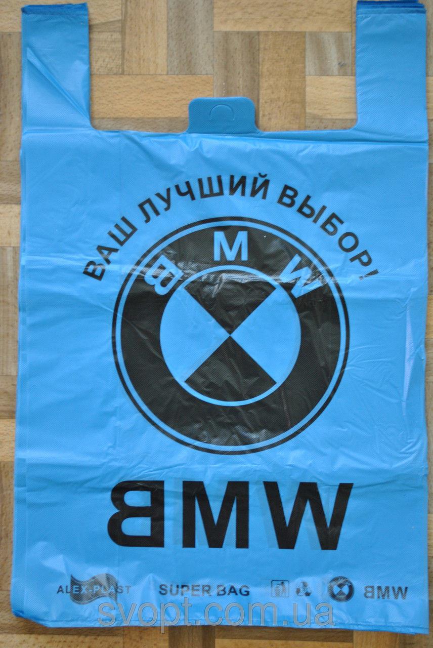 Пакет майка BMW 43*68см черные