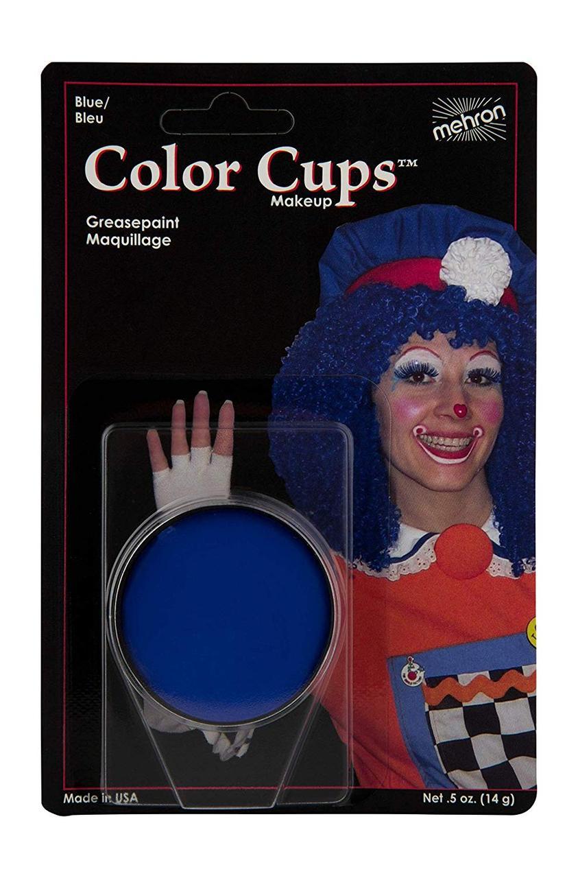 MEHRON Кремовый грим Color Cups, Blue (Синий), 12 г