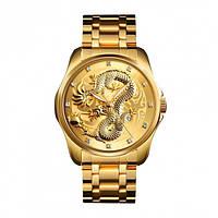 Skmei  9193 золотистые мужские классические часы, фото 1