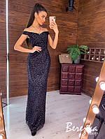 Вечернее женское платье сетка с люрексом РАЗНЫЕ ЦВЕТА