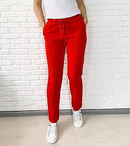 Женские красные брюки с высокой посадкой