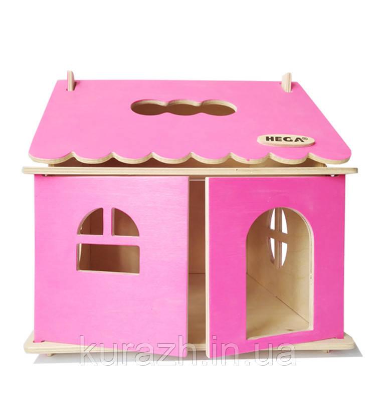 Кукольный домик Hega розовый 1эт.(041A)