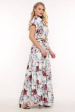 Летнее платье в пол большого размера Алена, фото 3