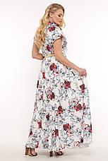 Летнее платье в пол большого размера Алена, фото 2