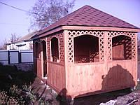 Беседка деревянная для дачи и сада