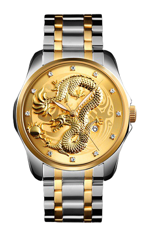 Skmei  9193 серебристые с золотым мужские классические часы