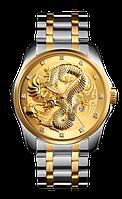 Skmei  9193 серебристые с золотым мужские классические часы, фото 1