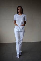 Медицинский стильный костюм доктора женский Белый
