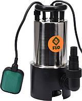 Насос для грязной воды FLO сетевой 750 Вт 14000 л/ч макс.высота - 14,5 м, корпус из нержавеющей стали Flo, фото 1