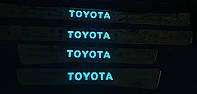 Накладки на пороги toyota land cruiser 100 с подсветкой, фото 1