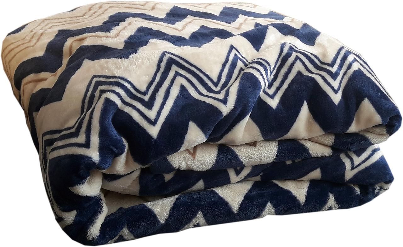 Покрывало на кровать «Синий зигзаг» - 150х215, СОНЯ ТЕКС