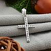 Серебряный крест размер 25х12 мм вставка белые фианиты вес 1.01 г, фото 2