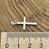 Серебряный крест размер 25х12 мм вставка белые фианиты вес 1.01 г, фото 3