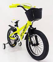 Детский двухколесный велосипед D-JEEP желтый 16 дюймов