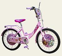 Велосипед двухколесный для девочек 20'' Disney Sofia The First со звонком,зеркалом,без доп.колес