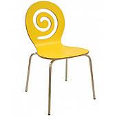 Обеденный стул SDM Лев сидение желтое для кафе