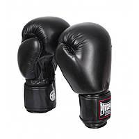 Перчатки боксерские PowerPlay 3004, черный, р-р 10-16 унций, PU, на липучке (PP_3004), фото 1