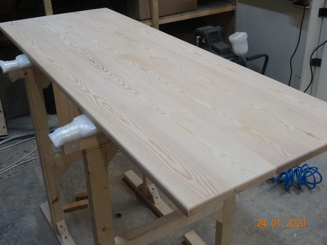Мебельный щит массив дерева цельноламельный Лиственница 20мм