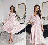 Платье стильное на запах в расцветках 42365