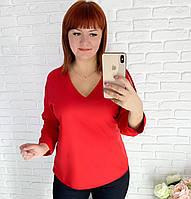 Блузка с V-образным декольте
