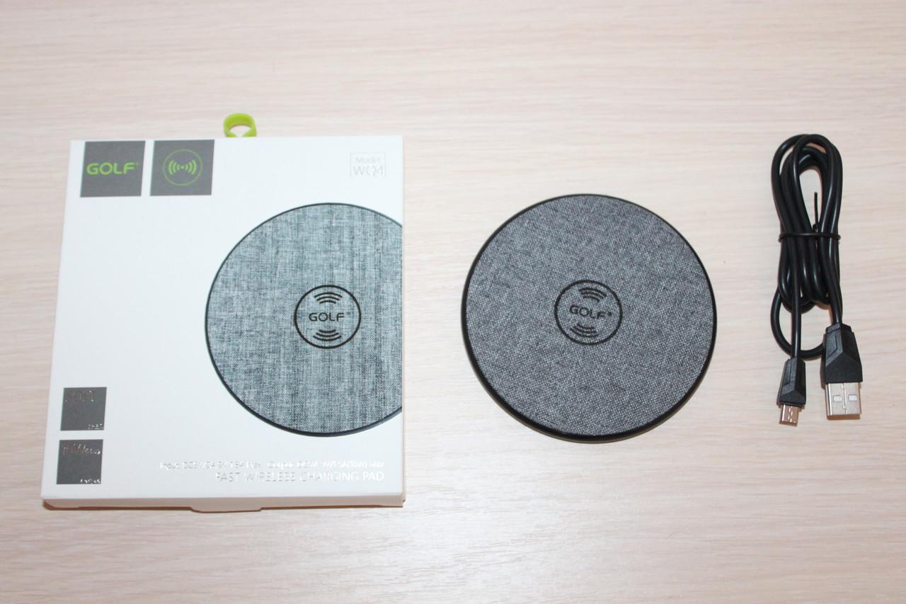 Зарядка без провідна Fast Wireless GOLF GF-WQ4 Gray