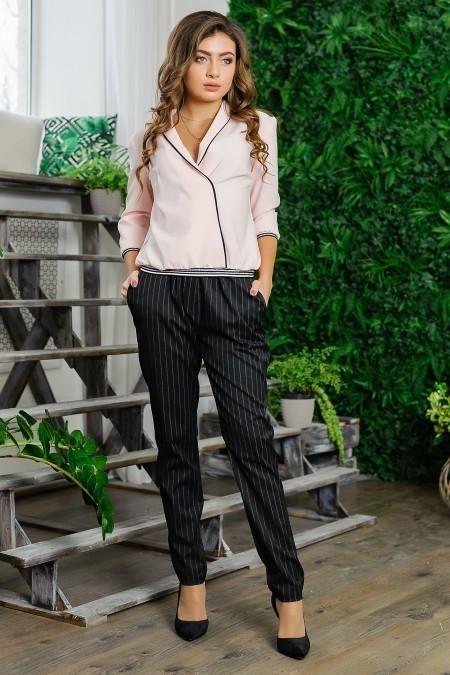 """Шикарный брючный костюм двойка блуза-брюки ткань """"Костюмная"""" размер 44 размер"""