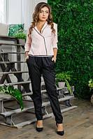 """Шикарный брючный костюм двойка блуза-брюки ткань """"Костюмная"""" размер 44 размер норма"""