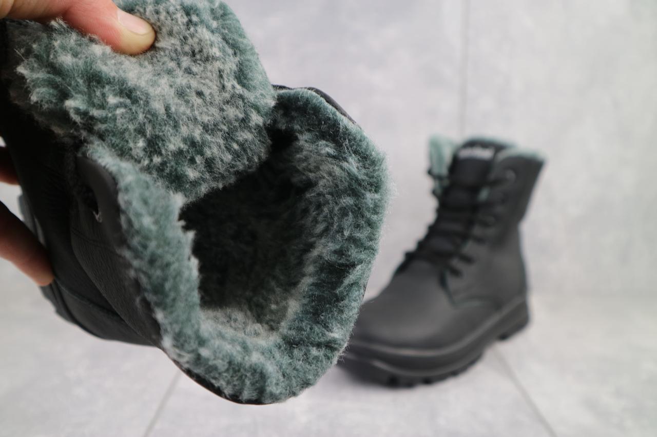Подростковые ботинки кожаные зимние черные CrosSAV 150