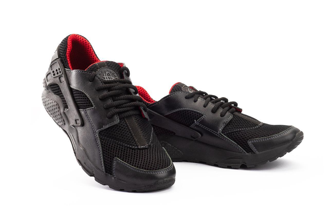 Мужские кроссовки текстильные летние черные-красные Twix ХУАР