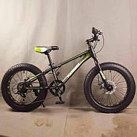 Горный велосипед фэтбайк 20 дюймов S800 HAMMER EXTRIME Черно зеленый