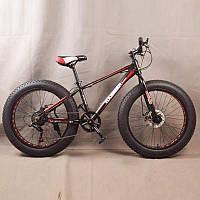 Горный велосипед 24 дюйма фэтбайк S800 HAMMER EXTRIME Черно красный