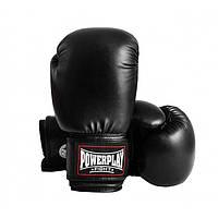 Перчатки боксерские для тренировок и спаррингов PowerPlay На липучке Полиуретан Черный 18 унций (PP_3004), фото 1