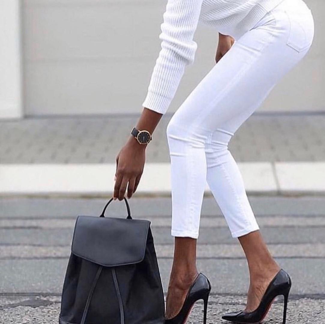 Белые женские джинсы скинни  skinny