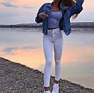 Белые женские джинсы скинни  skinny, фото 2