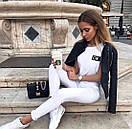 Белые женские джинсы скинни  skinny, фото 3