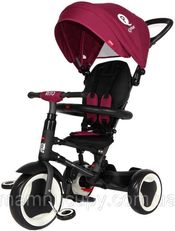 Детский трехколесный велосипед Sun Baby QPlay Rito (J01.013.12) бордовый