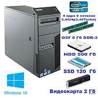 Системный блок, Intel Core i7 860, 8 ядер до 3,46 Ghz, 8 Гб ОЗУ DDR-3, HDD 500 Гб,SSD 12О Гб, видео 2 Гб, фото 1