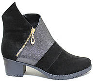 Замшевые женские демисезонные ботинки большогоразмеравесна от производителя модель ВБ12