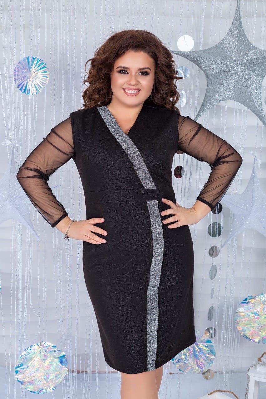 Женское вечернее люрексовое платье