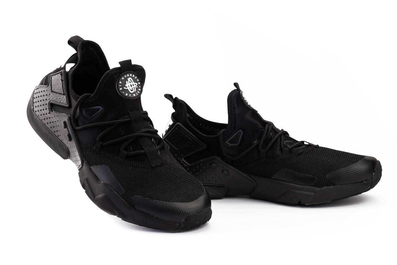 Мужские кроссовки текстильные весна/осень черные Classica A 5094 -5