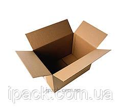 Гофроящик 100*100*200 мм бурый четырехклапанный картонный короб