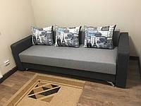 Прямой диван Кама Провентус Честер 220x87 см Серый