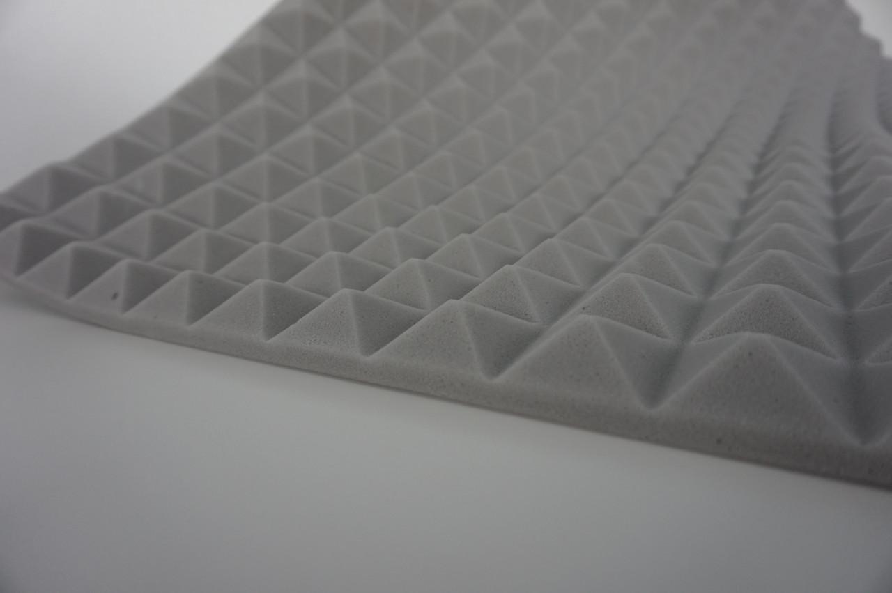 Поролон акустический светло-серый 30мм, 1м*1м