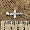 Серебряный крест размер 26х13 мм вставка белые фианиты вес 1.37 г, фото 3